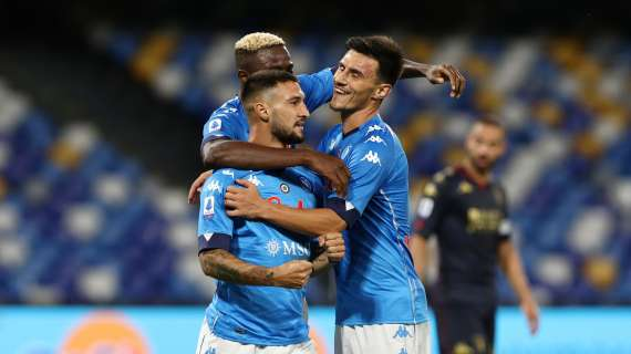 Serie A, Napoli secondo in classifica, pari tra Parma e Spezia