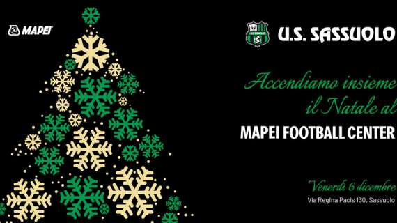 Sassuolo, Natale neroverde: venerdì l'evento al Mapei Football Center