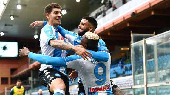 VIDEO - Napoli, 2-0 al Marassi sulla Samp: gol e highlights